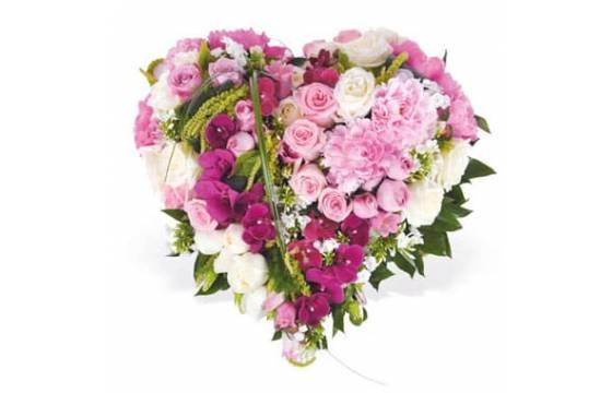 L'Agitateur Floral | Image du coeur en fleurs dans les tons roses Songe