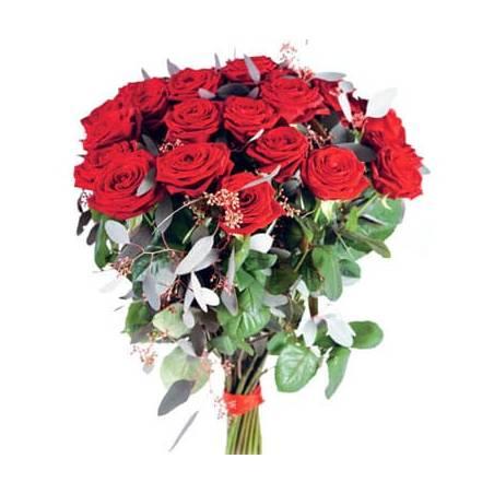 L'Agitateur Floral | image du magnifique bouquet de roses rouges Noblesse
