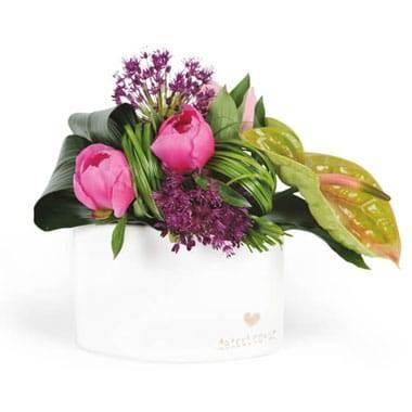 L'Agitateur Floral | Image de la composition de fleurs carré d'amour