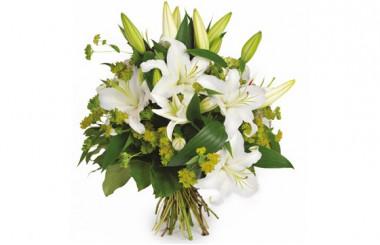 Bouquet de lys blanc Coton