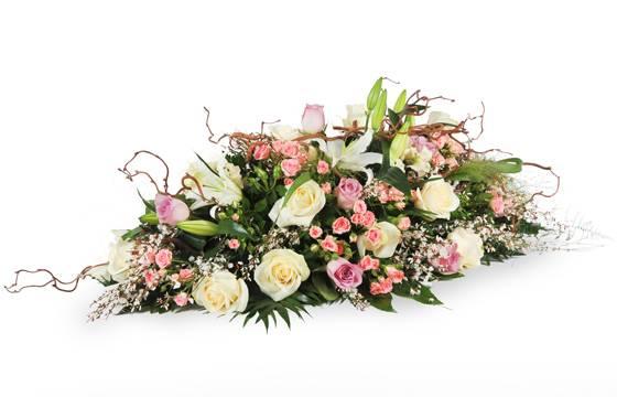 L'Agitateur Floral | image de la composition pour un enterrement dan les tons rose & blanc Equinoxe