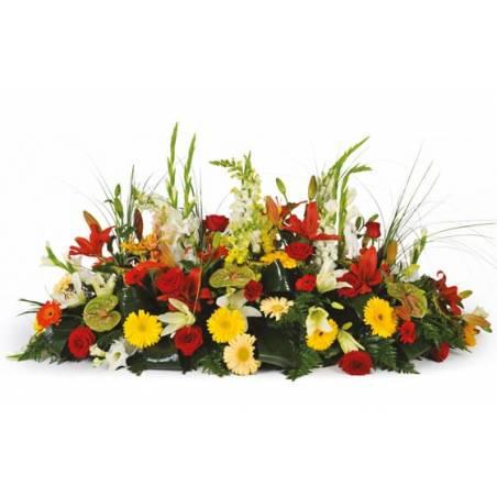 L'Agitateur Floral | image de la composition de deuil colorée Santa Maria