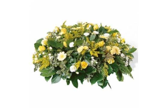 L'Agitateur Floral | image de la composition de deuil ronde Plénitude