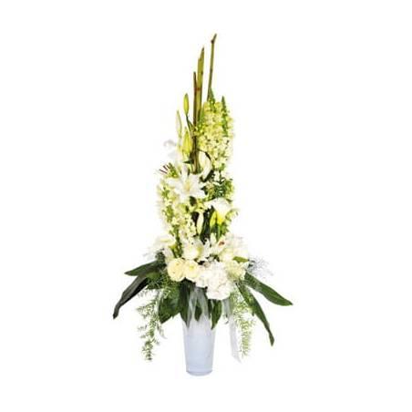 L'Agitateur Floral |image de la composition de fleurs blanches Victoire