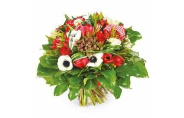 L'Agitateur Floral | image du Bouquet de fleurs rouges Evidence