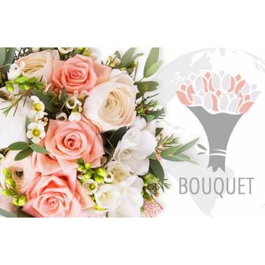 L'Agitateur Floral | image du bouquet pour l'international Rose & Blanc