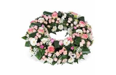 L'Agitateur Floral | image de la couronne de fleurs rose & blanche Infinie Tendresse