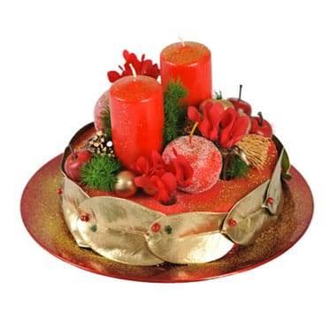 L'Agitateur Floral |image du Gâteau floral de Noël Fraise et Petits Pois