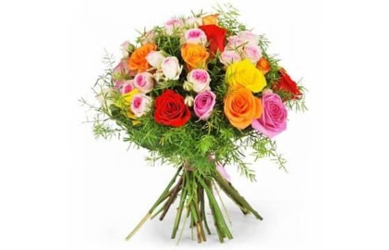L'Agitateur Floral | image du bouquet de roses multicoles fragrance