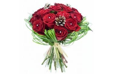 L'Agitateur Floral | image du Bouquet de roses pour Noël Alhambra