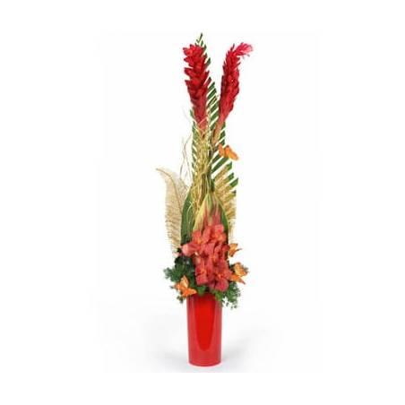L'Agitateur Floral | Image de la composition de fleurs rouges Mascota