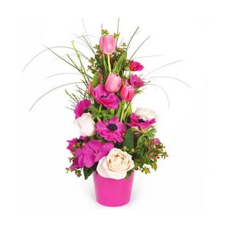 L'Agitateur Floral |composition de fleurs rose du nom d'Impérial
