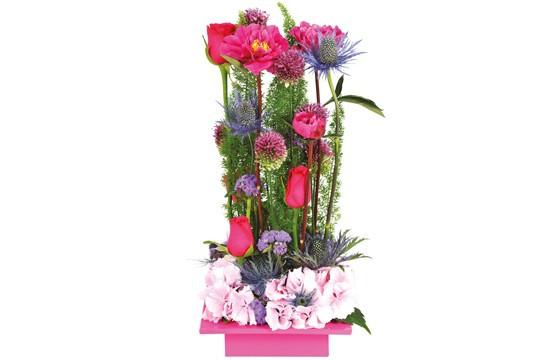 image de la composition de fleurs Théâtral