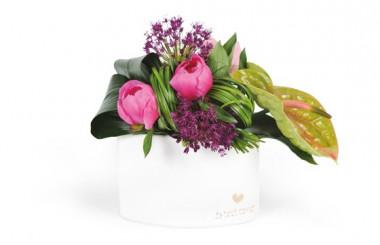 Image de la composition de fleurs carré d'amour