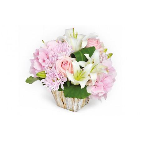 image de la composition de fleurs Velour rose