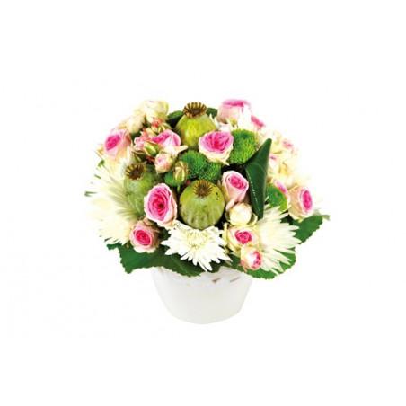 Composition florale Love : image de la création