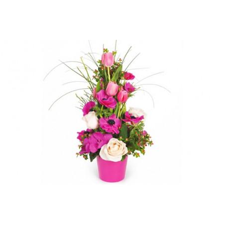 composition de fleurs rose du nom d'Impérial