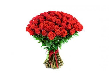 image du bouquet de roses rouges