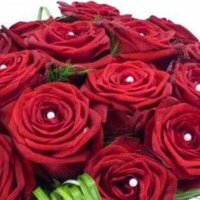 Bouquet Rond De Roses Rouges Livraison De Fleurs Par Fleuriste L