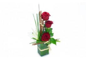 Composition de roses & lys Carla