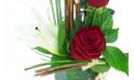 zoom sur le centre de la création florale