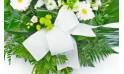 L'Agitateur Floral | vue sur le noeud de la gerbe de fleurs de deuil