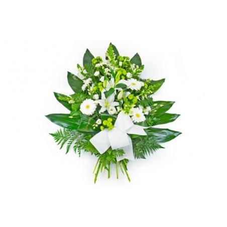Gerbe de fleurs blanche pour un enterrement livraison for Site livraison fleurs