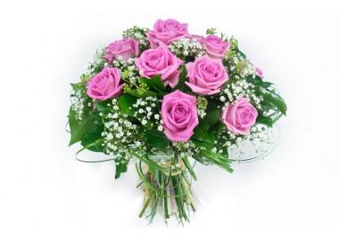 une nouvelle image du bouquet rond pluie de roses