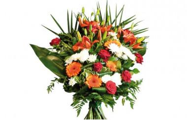 image du bouquet de fleurs de deuil Voie Lactée