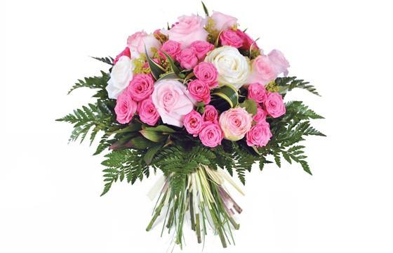 image du bouquet de roses roses pompadour
