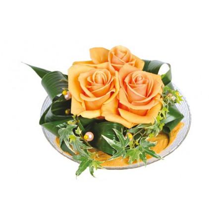 L'Agitateur Floral | Image de la composition de roses oranges Ocre