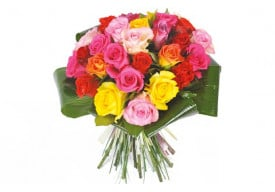 Bouquet de roses multi-couleurs Peps