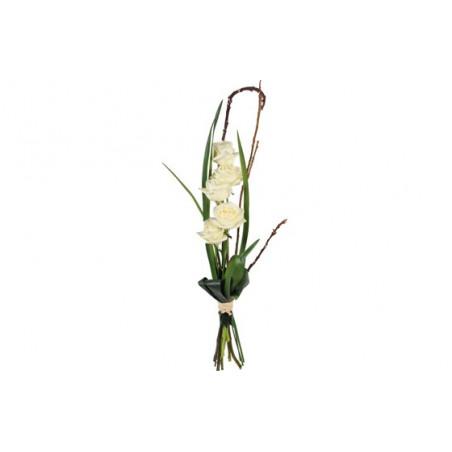 image du bouquet de roses blanches Colombe