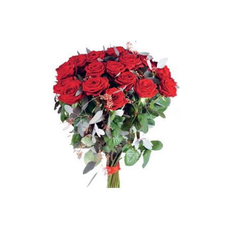 image du magnifique bouquet de roses rouges Noblesse