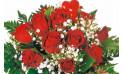 L'Agitateur Floral | zoom sur le centre du bouquet de roses rouges Milan