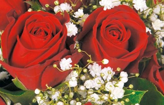 L'Agitateur Floral | zoom sur des roses rouges du bouquet Milan
