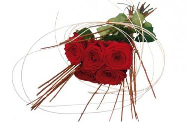 image du bouquet de roses rouges Magique