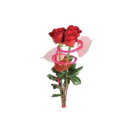 Image du bouquet de trois roses rouges Ma Princesse