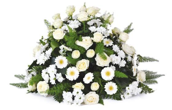 composition de deuil blanche livraison de fleurs pour un enterrement l 39 agitateur floral. Black Bedroom Furniture Sets. Home Design Ideas