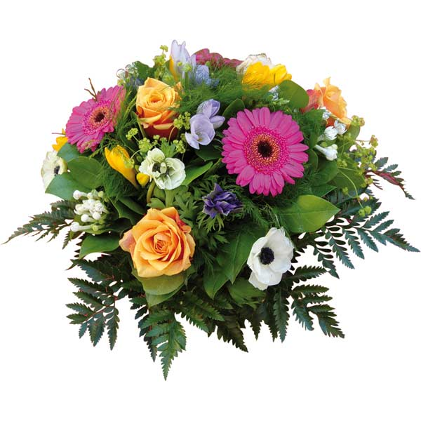 Bouquet de fleurs calèche