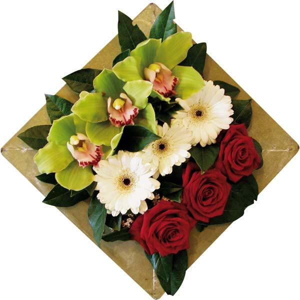 Bouquet de fleurs émeraude