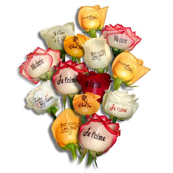 Roses imprimées