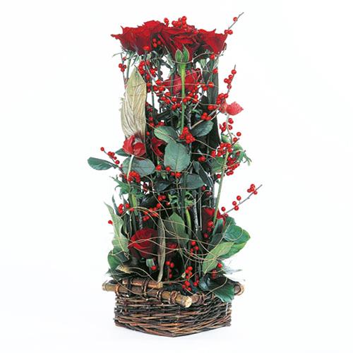 Bouquet fleurs roses composition baiser de roses - Composition de bouquet ...