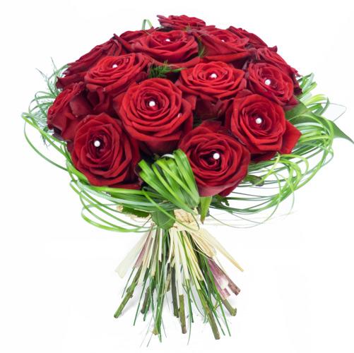 Bouquet rond de roses rouges livraison de fleurs par for Livraison fleurs paypal