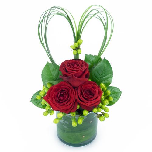 Composition de roses rouges livraison de fleurs par for Livraison fleurs paypal