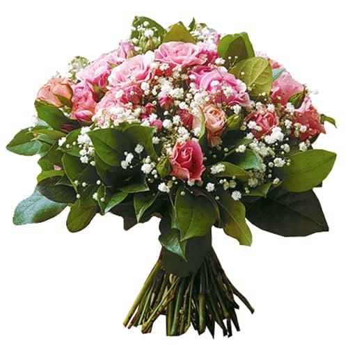 livraison bouquet rond de roses roses pluie de roses. Black Bedroom Furniture Sets. Home Design Ideas