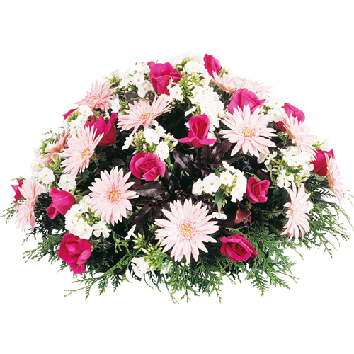 Composition fleurs deuil eternel tons rose et blanc for Livraison fleurs paypal