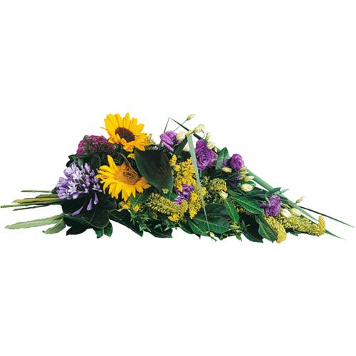 Soleil ternel gerbe fleurs deuil main dans les tons for Livraison fleurs paypal