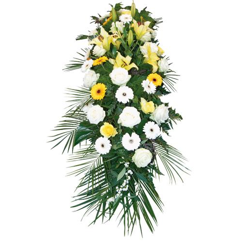 Sonate grande raquette fleurs deuil traditionnelle for Livraison fleurs paypal