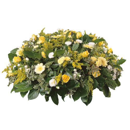 Livraison composition de fleurs piqu e de forme ronde et for Livraison fleurs paypal